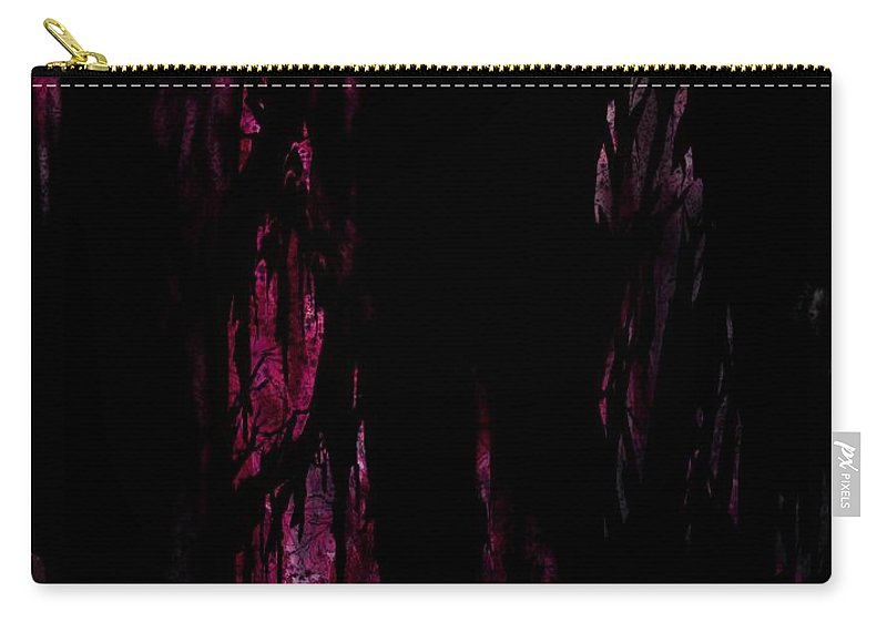 Murder Carry-all Pouch featuring the digital art Murdered by Rachel Christine Nowicki
