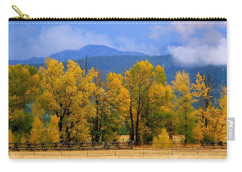 Cottonwood Carry-all Pouch featuring the photograph Murmur Of The Cottonwoods by Eric Tressler
