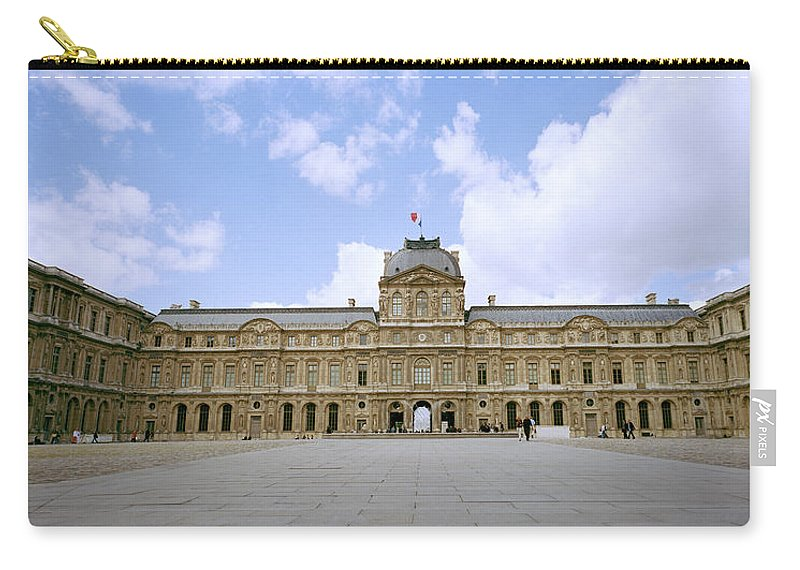 Paris Carry-all Pouch featuring the photograph The Louvre by Shaun Higson