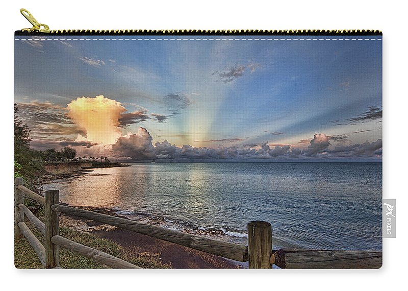 Mushroom Cloud Carry-all Pouch featuring the photograph Mushroom Cloud by Douglas Barnard