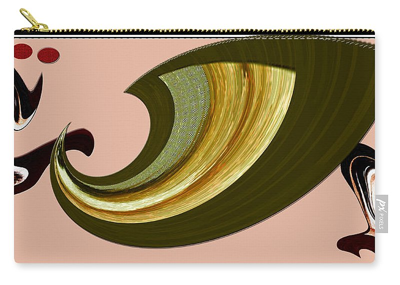 Digital Art Carry-all Pouch featuring the digital art Music And Color - Dancing Digital by Marie Jamieson