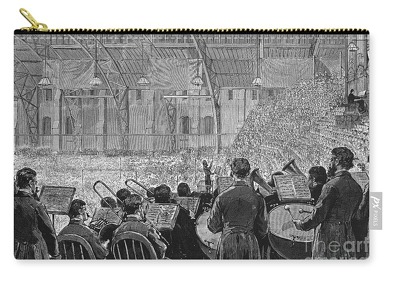 1881 Carry-all Pouch featuring the photograph Music Festival, 1881 by Granger