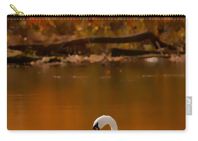 Mute Swan Native Carry-all Pouch featuring the photograph Mute Swan by Randall Branham