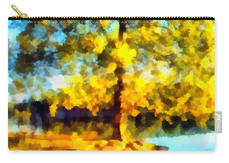 Tree Carry-all Pouch featuring the photograph My Golden Impression by Angelina Vick