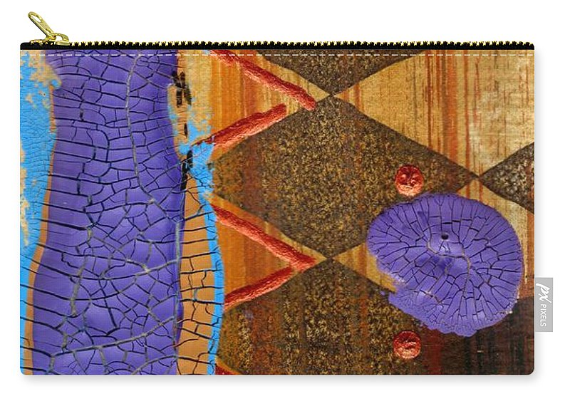 Abstract Carry-all Pouch featuring the mixed media My New Purple Dress by Angela L Walker