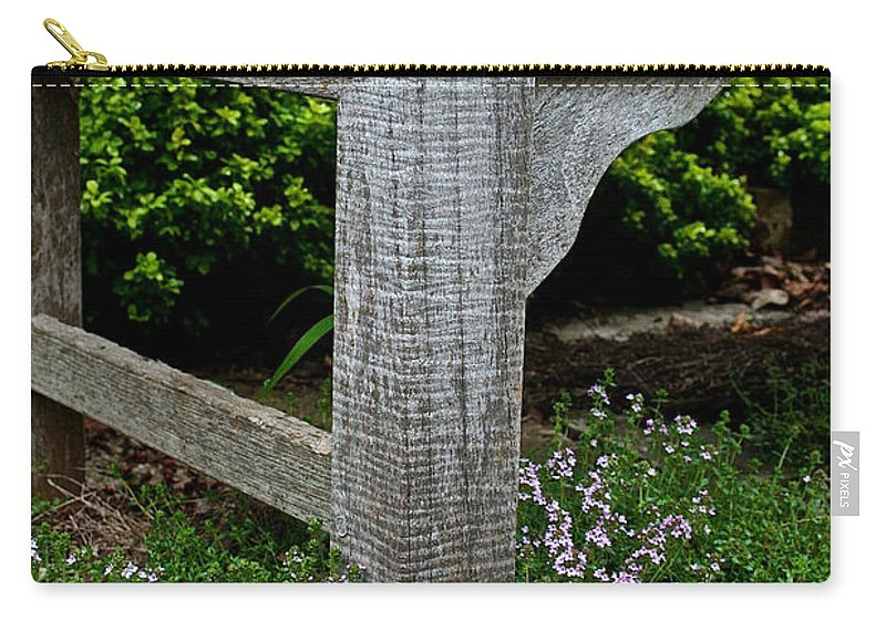 Landscape Carry-all Pouch featuring the photograph My Old Bench by Susan Herber