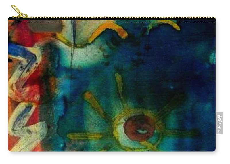 Acrylic Carry-all Pouch featuring the painting My Own Painted Desert - Wip by Angela L Walker