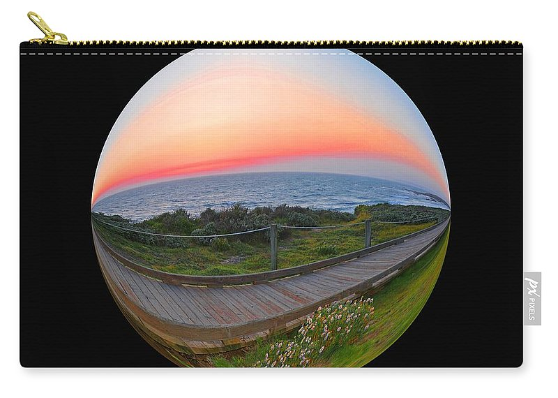 Moonstone Beach Carry-all Pouch featuring the photograph My World 3 by Lynn Bauer