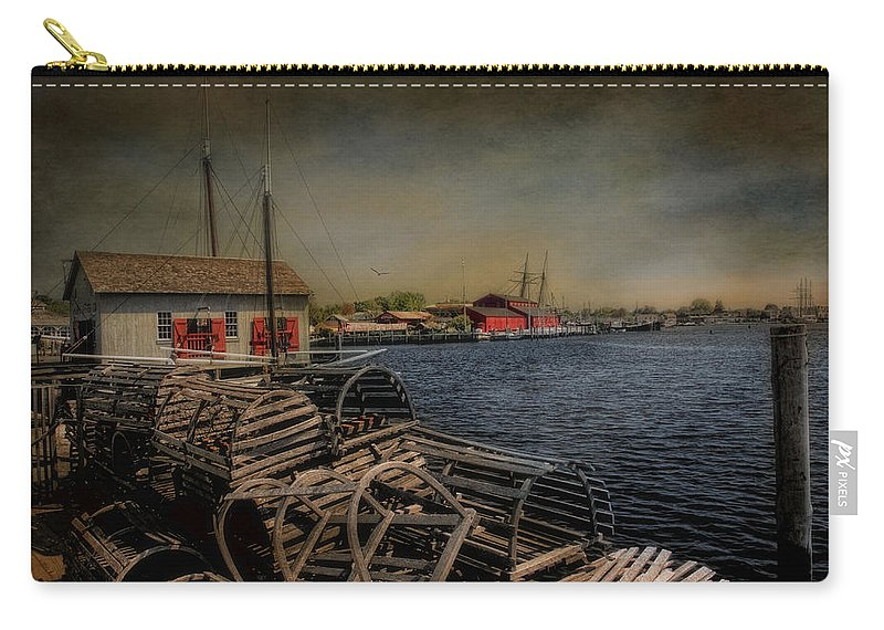 Mystic Carry-all Pouch featuring the photograph Mystic Harbor by Robin-Lee Vieira