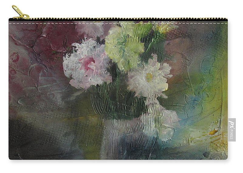 Floral Carry-all Pouch featuring the painting Mystical Flowers by Marilyn Woods