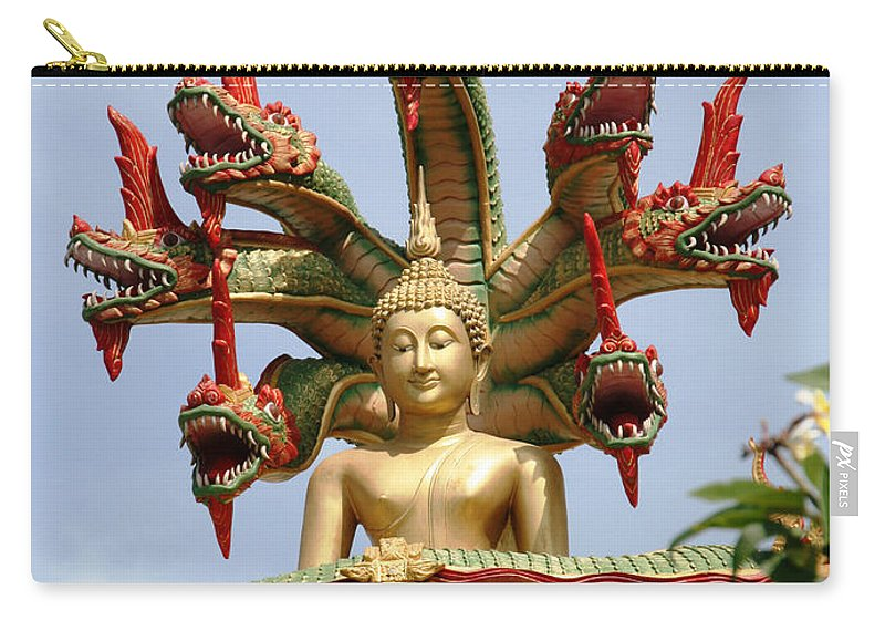Snake Head Carry-all Pouch featuring the photograph Naga by Adrian Evans