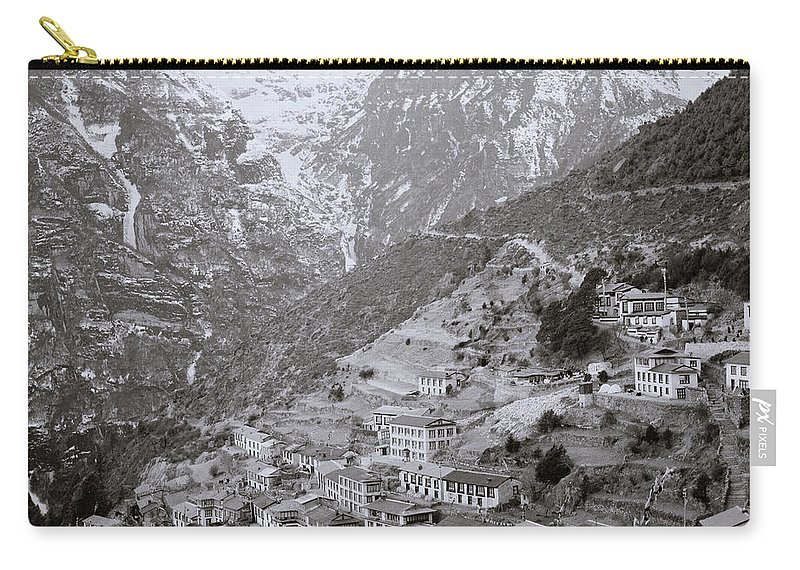 Himalaya Carry-all Pouch featuring the photograph Namche Bazaar by Shaun Higson