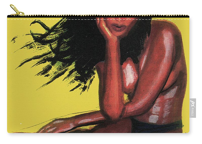 Naomi Campbell Carry-all Pouch featuring the painting Naomi Campbell by Emmanuel Baliyanga