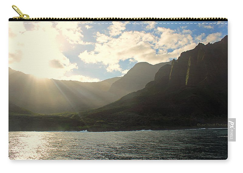 Napali Carry-all Pouch featuring the photograph Napali Coast Sunrise by Lauri Novak