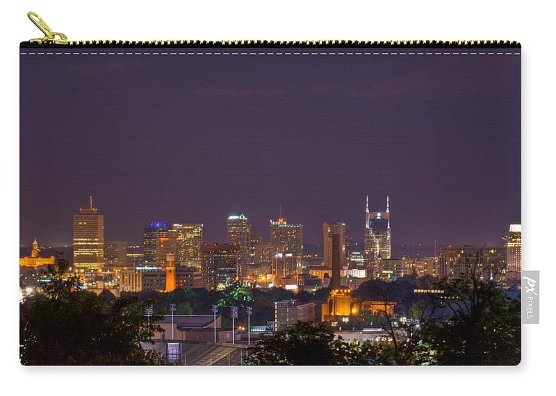 Nashville Carry-all Pouch featuring the photograph Nashville Cityscape 9 by Douglas Barnett