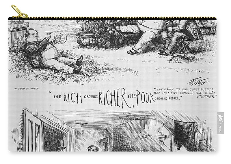 1871 Carry-all Pouch featuring the photograph Nast: Tweed Ring Cartoon by Granger