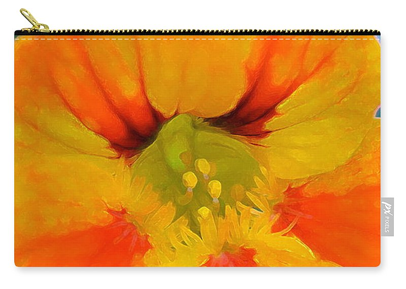 Floral Carry-all Pouch featuring the photograph Nasturtium by Pamela Cooper