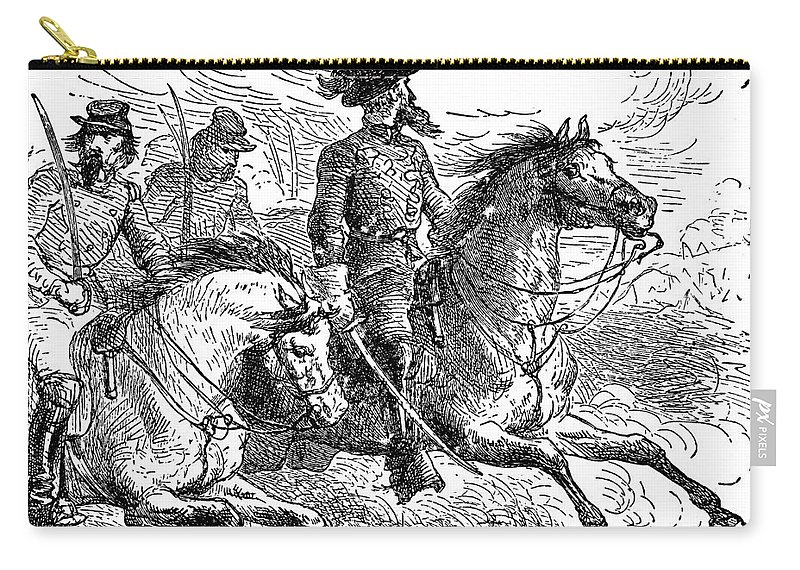 1864 Carry-all Pouch featuring the photograph Nathan Bedford Forrest (1821-1877) by Granger