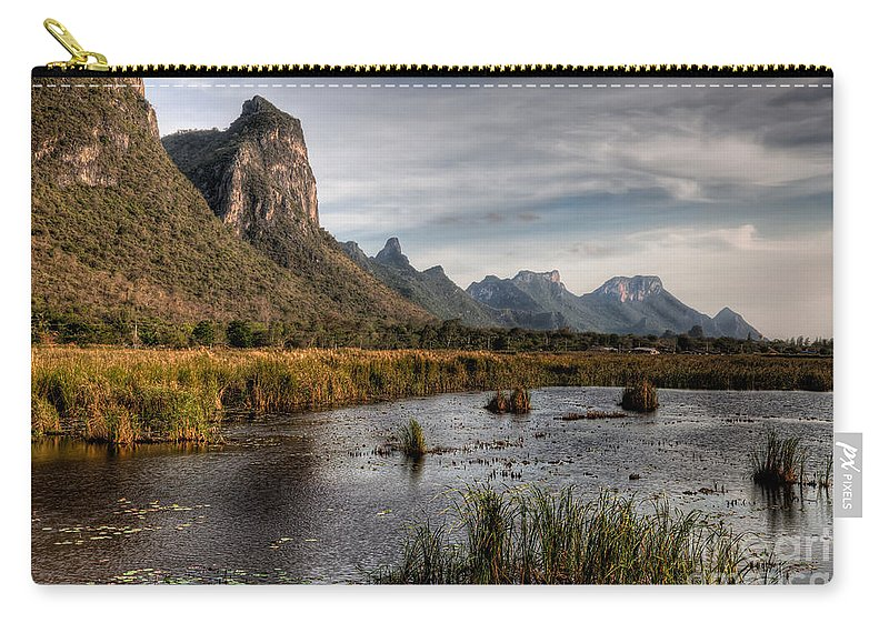 Lake Carry-all Pouch featuring the photograph National Park Thailand by Adrian Evans