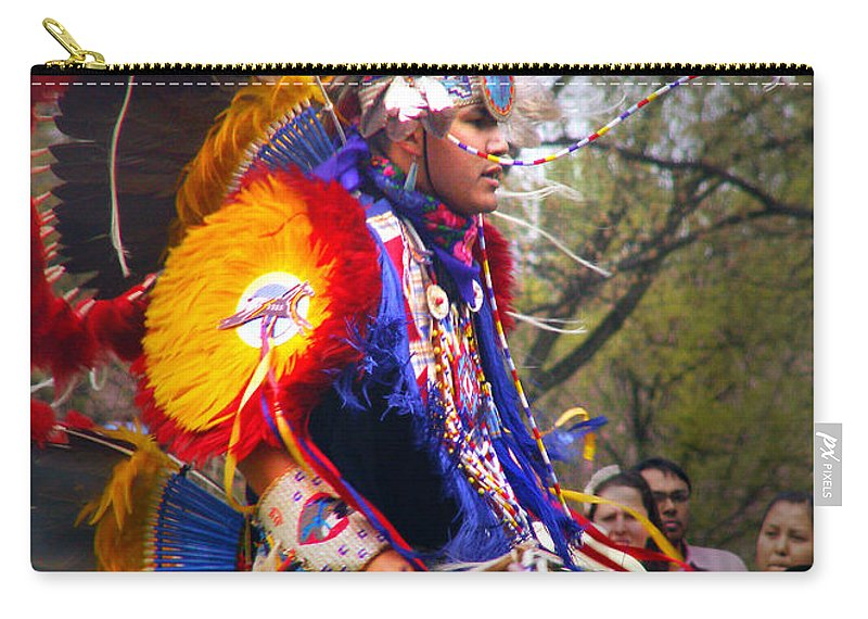 Jingle Dance Carry-all Pouch featuring the photograph Native American Dancer One by Nancy Griswold