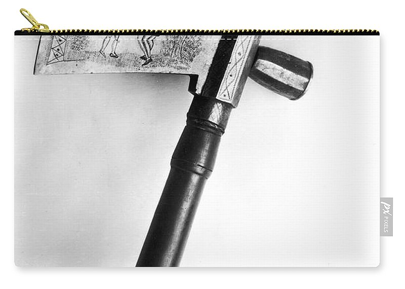 18th Century Carry-all Pouch featuring the photograph Native American Tomahawk by Granger