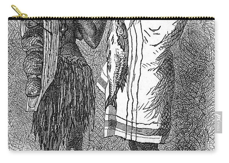 19th Century Carry-all Pouch featuring the photograph Native Americans: Flatheads by Granger