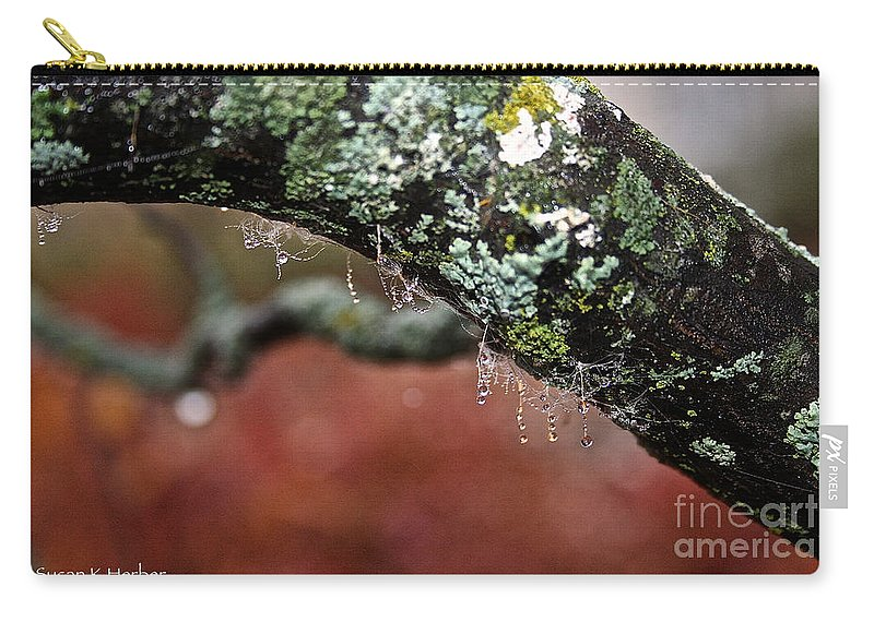 Outdoors Carry-all Pouch featuring the photograph Natural Bling Strings by Susan Herber
