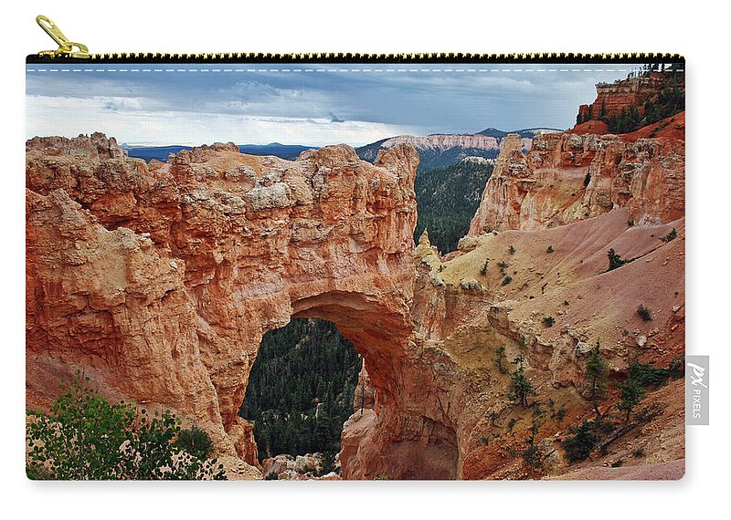 Natural Carry-all Pouch featuring the photograph Natural Bridge by David Pringle