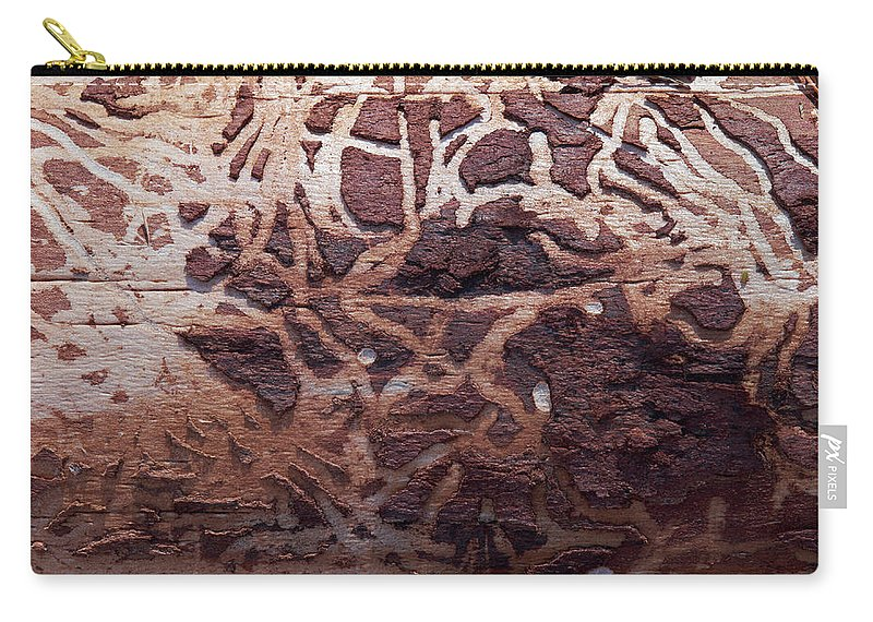 Autumn Carry-all Pouch featuring the photograph Natural Carvings by Jouko Lehto