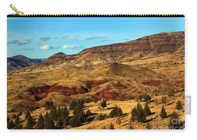 John Day Fossil Beds National Monument Carry-all Pouch featuring the photograph Natural Paint by Adam Jewell