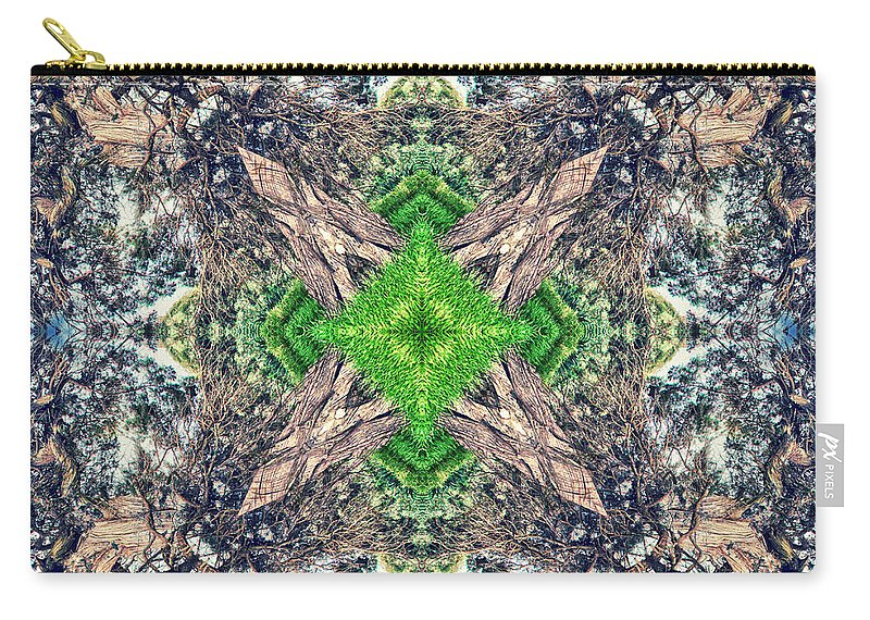 Abstract Carry-all Pouch featuring the photograph Nature Mandala by Stelios Kleanthous