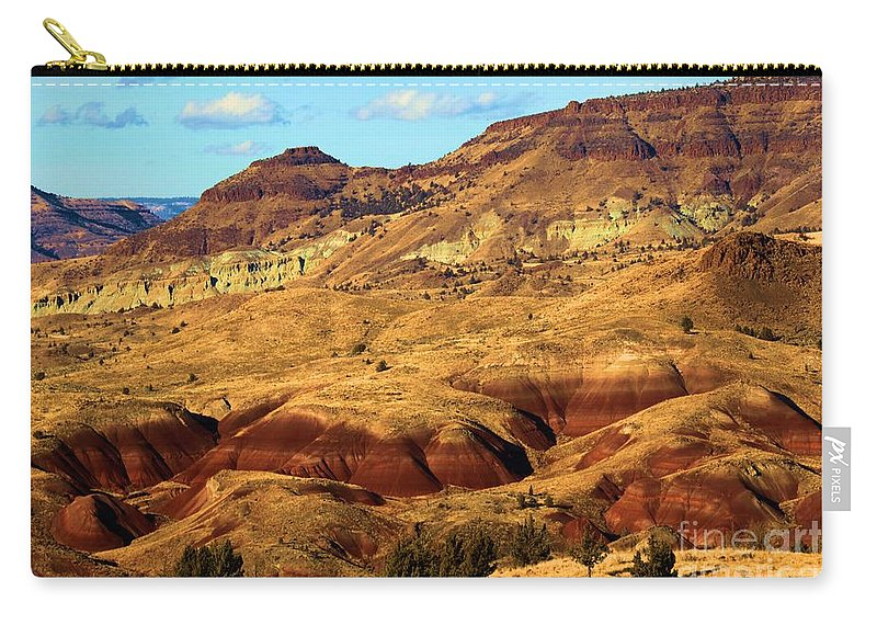 John Day Fossil Beds National Monument Carry-all Pouch featuring the photograph Natures Art by Adam Jewell