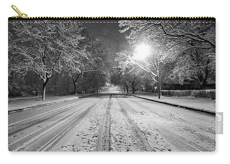 Monochrome Carry-all Pouch featuring the photograph Natures Flocking by CJ Schmit