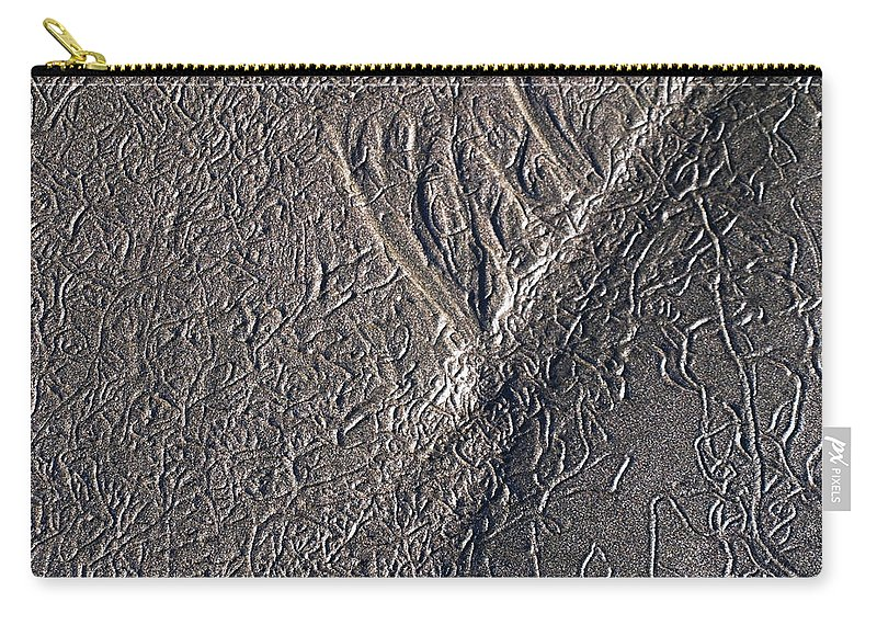 Sand Carry-all Pouch featuring the photograph Natures Freeway by Teri Schuster