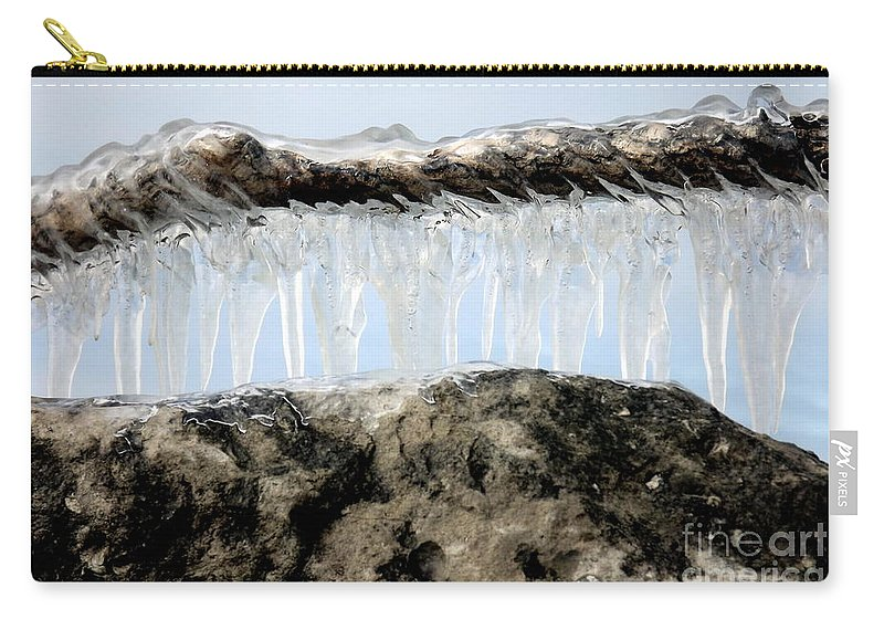Winter Carry-all Pouch featuring the photograph Natures Ice Sculptures 6 by Rose Santuci-Sofranko