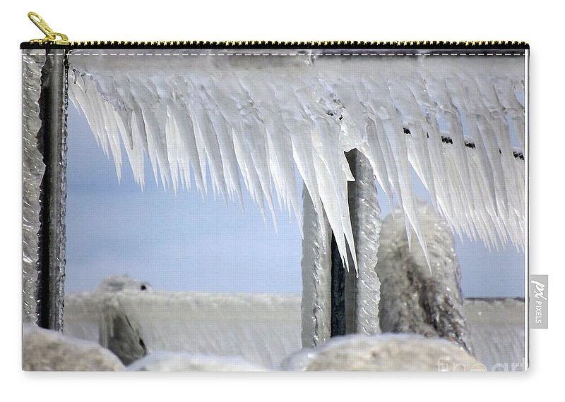 Winter Carry-all Pouch featuring the photograph Natures Ice Sculptures1 by Rose Santuci-Sofranko