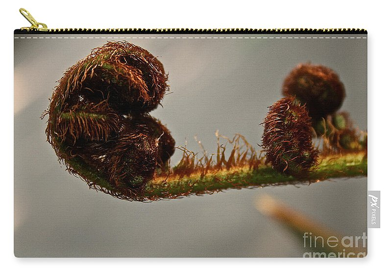 Plant Carry-all Pouch featuring the photograph Nature's Red Carpet Unfurling by Susan Herber