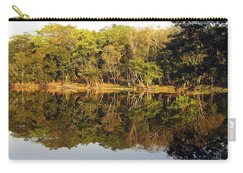 Nature Carry-all Pouch featuring the photograph Natures Reflection Guatemala by Kurt Van Wagner