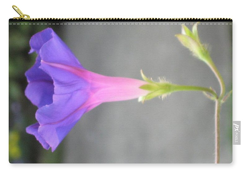 Funnel Flower Carry-all Pouch featuring the photograph Nature's Trumpet by Sonali Gangane
