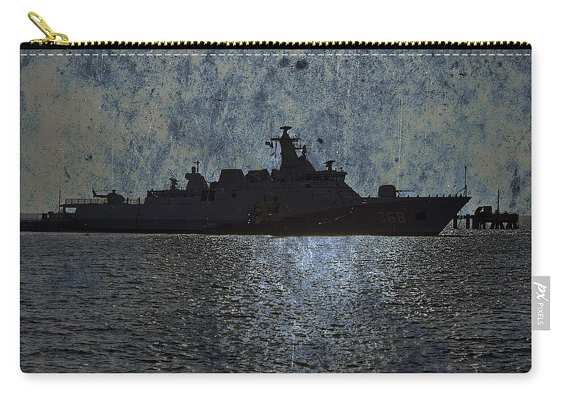 Naval Joint Operations Carry-all Pouch featuring the photograph Naval Joint Ops V3 by Douglas Barnard