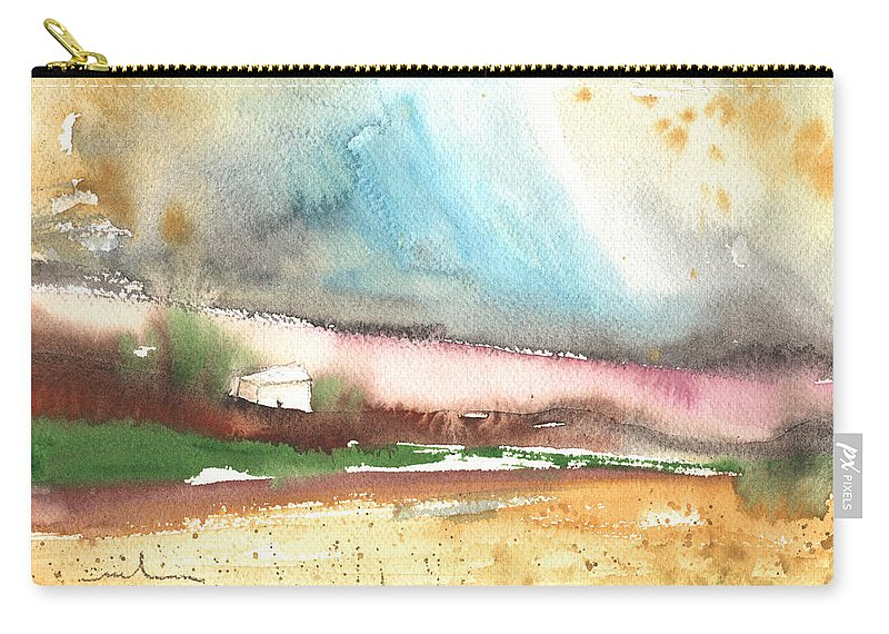 Travel Carry-all Pouch featuring the painting Navalperal De Pinares 01 by Miki De Goodaboom