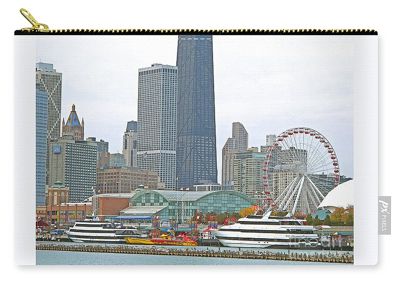 Chicagoland Carry-all Pouch featuring the photograph Navy Pier And Vicinity by Ann Horn