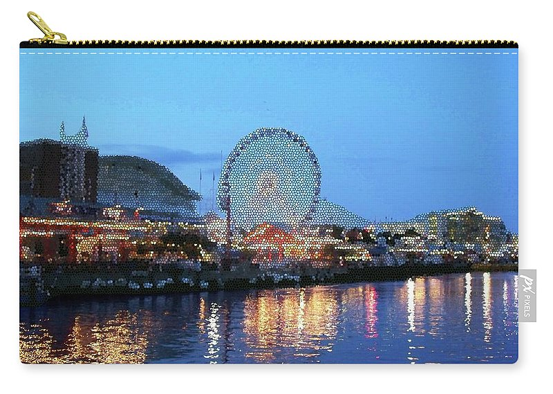 Cities Carry-all Pouch featuring the digital art Navy Pier Chicago Digital Art by Thomas Woolworth
