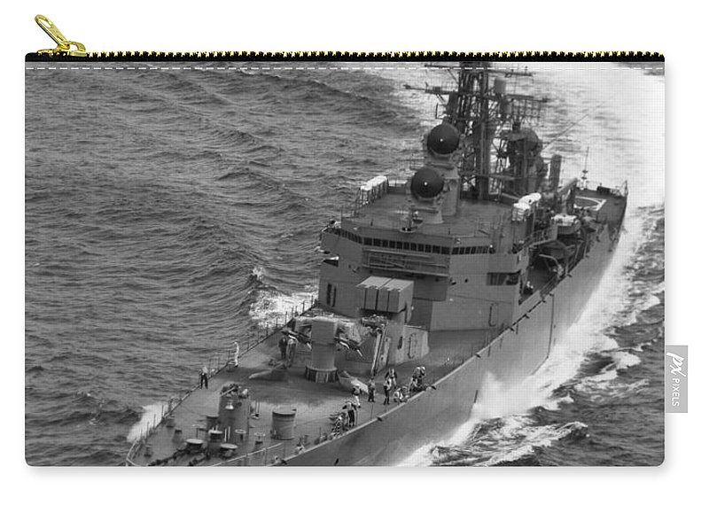 1968 Carry-all Pouch featuring the photograph Navy: Uss Bainbridge, 1968 by Granger