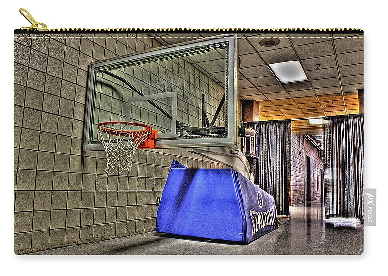Carry-all Pouch featuring the photograph Nba Hoop Auburn Hills Mi by Nicholas Grunas