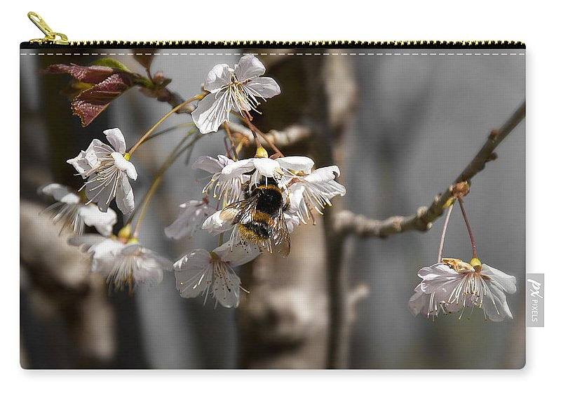 Bee Carry-all Pouch featuring the photograph Nectar Collector by Svetlana Sewell