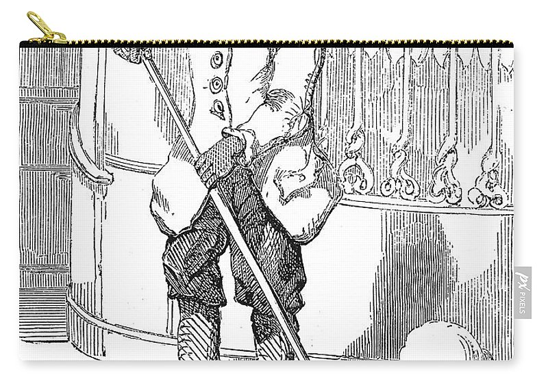 19th Century Carry-all Pouch featuring the photograph Negro Porter, 19th Century by Granger