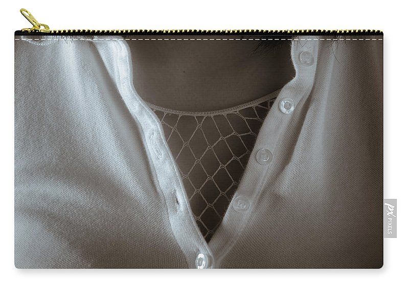 Cleavage Carry-all Pouch featuring the photograph Netted Cleavage by Scott Sawyer