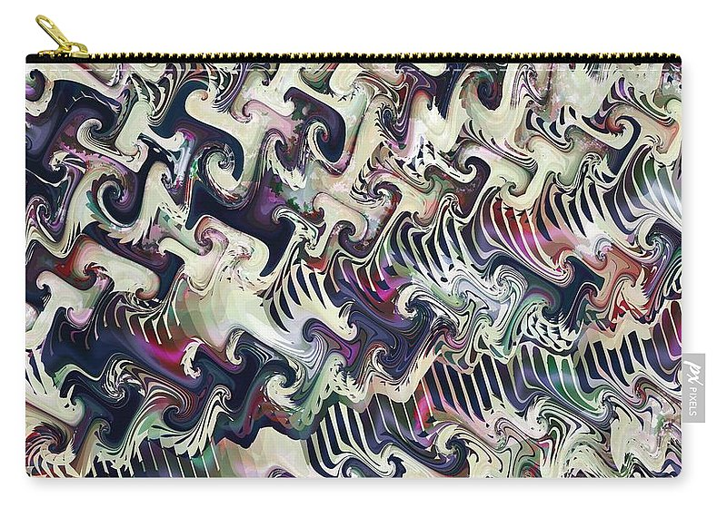 Fractal Carry-all Pouch featuring the digital art Neural Correlate by Richard Kelly