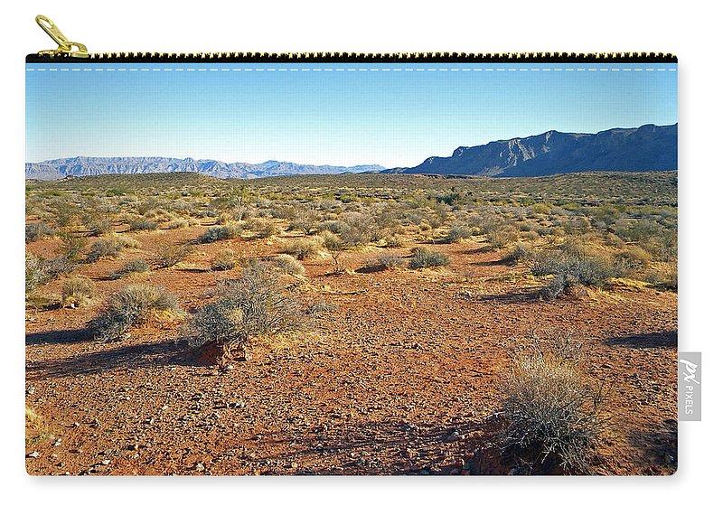 Desert Carry-all Pouch featuring the photograph Nevada Desert by Frank Wilson